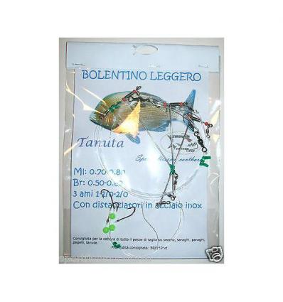 PARATURA BOLENTINO TANUTA CON DISTANZIATORI INOX PIRANHA FISHING LINE