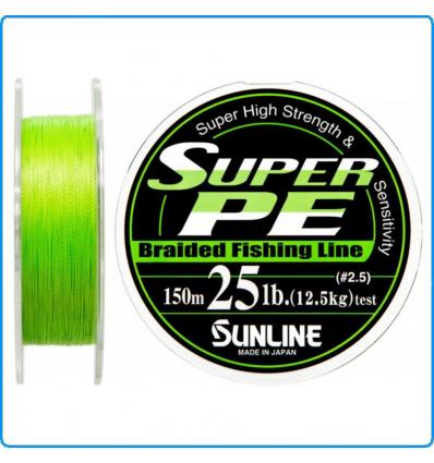 DYNEEMA SUPER PE SUNLINE 25lb 0.26mm 150mt 12.5KG color Green SPINNING SALTWATER