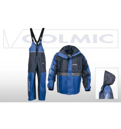 GIACCA E SALOPETTE COLMIC MODELLO RAINPROOF CON CAPUCCIO TAGLIA XL COLORE BLU