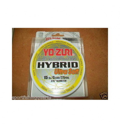 FLUOROCARBON HYBRID ULTRA SOFT YO-ZURI 12LBS 5.44kG 0.338 mm 250MT MADE IN JAPAN