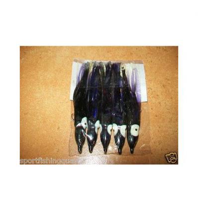 OCTOPUS TRAINA TIPO YO-ZURI CM 9 COLORE BLACK PURPLE CONF 5PZ