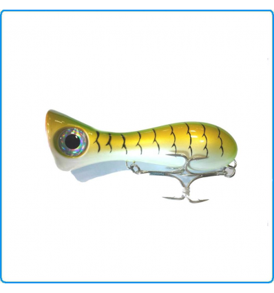 ARTIFICIALE JATSUI LETHAL POPPER 80mm 15g SG PESCA SPINNING MARE BARRACUDA SERRA
